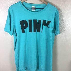 Victoria's Secret Pink Teal Tee